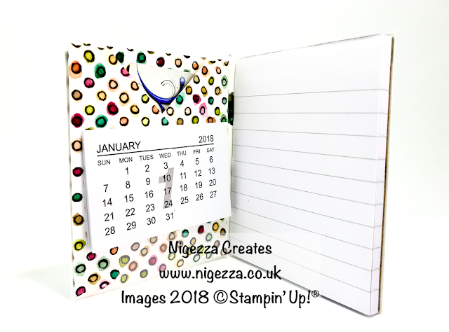 Covered Note Pad and Pen Using Stampin' Up!® Share What You love DSP Nigezza Creates