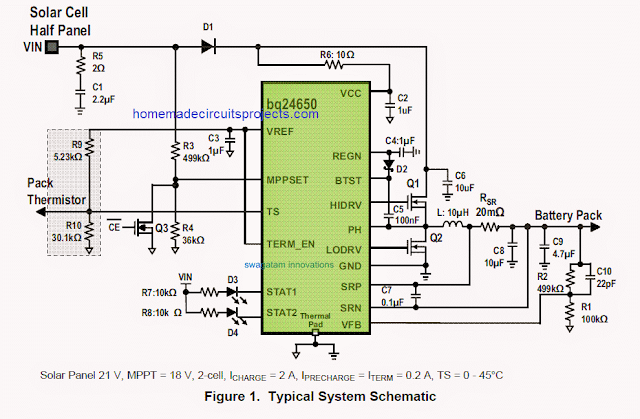 Synchronous Switch-Mode MPPT Battery Controller