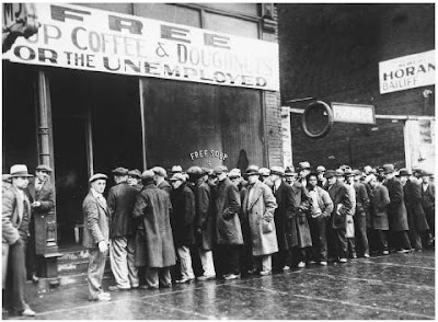 Roosevelt was sworn into office in 1933 at the very bottom of the Great Depression, a quarter of the workforce was out of work, the economy collapsed, the nation was in despair, and one out of two blacks were unemployed.