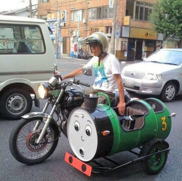 Funny Amazing Videos Pictures |Funny Motorcycle With Sidecar