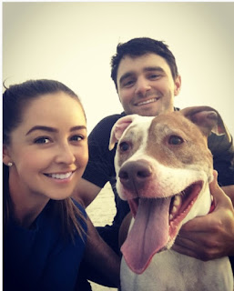Kyle Stanley Wife Dolly Enneking Stanley With Thier Dog