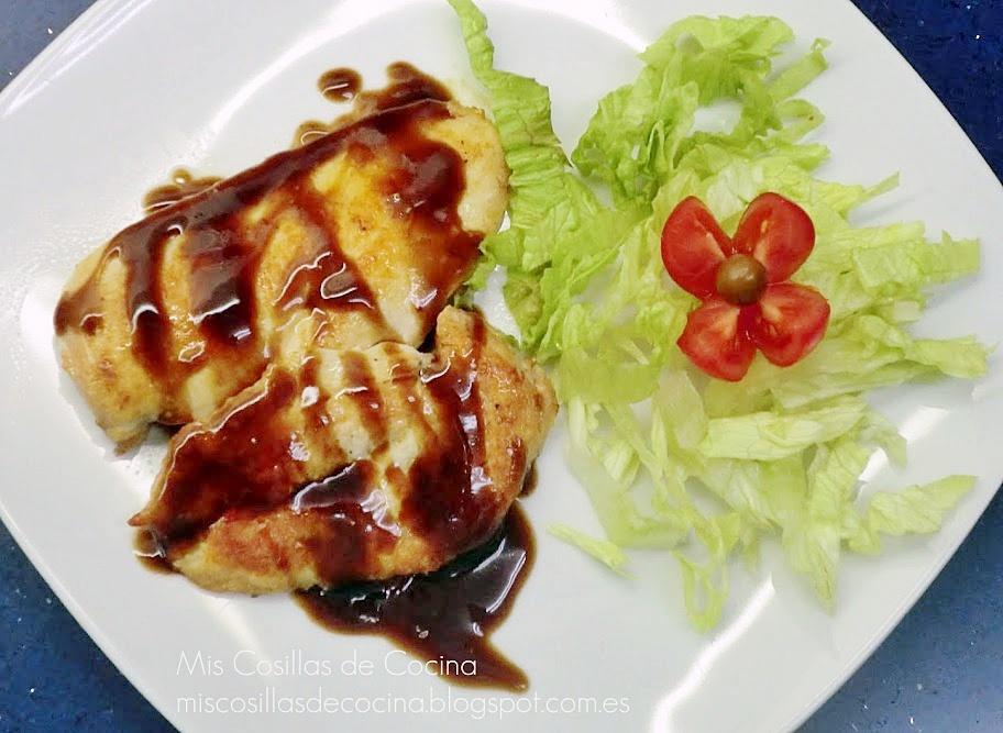 Pechugas de pollo con salsa agridulce mis cosillas de cocina - Salsas para pechuga de pollo ...