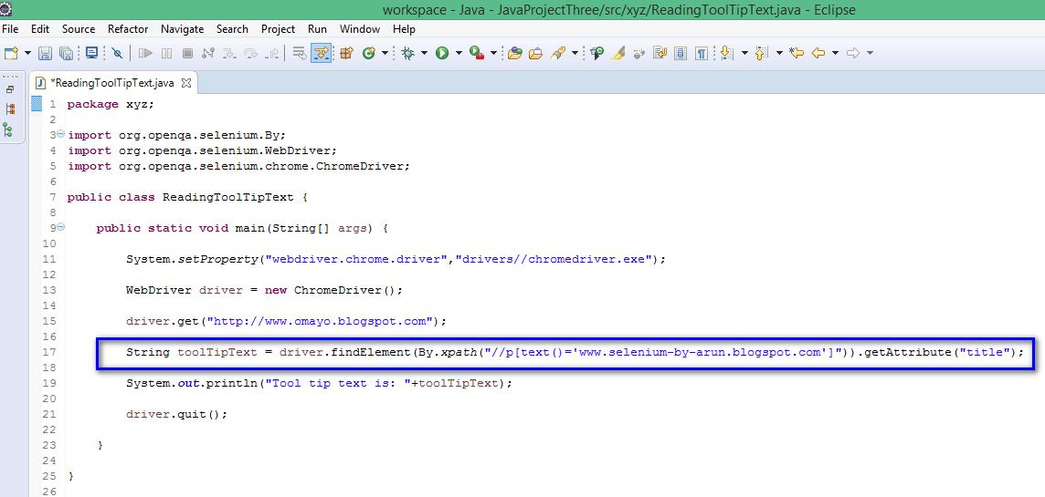 Selenium-By-Arun: Reading Tool Tip text using getAttribute