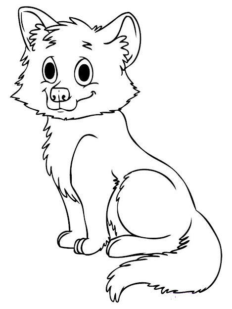 Coloring Pages Realistic Coloring Pages Animal Baby Wolf Printable