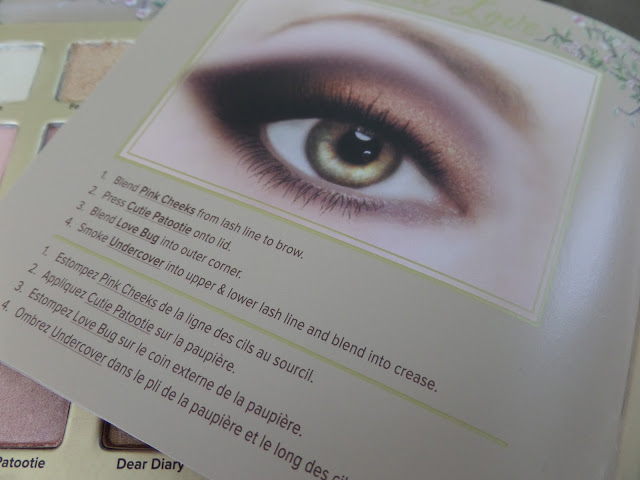 too faced natural love ultimate neutral eye shadow palette booklet