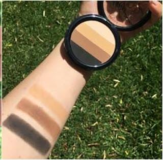 miss trucco eyeshadow palette ombretti terra  acqua  swatches