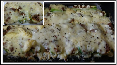Dukan Zucchini Boats with Beef and Bechamel