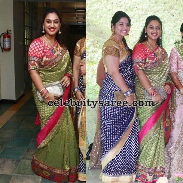 Preeta Hari Green Benaras Silk Saree