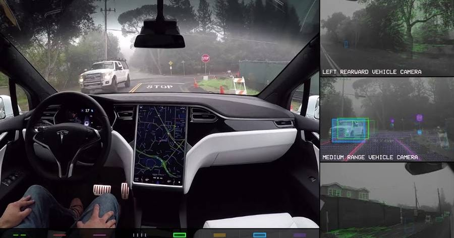 Latest Car News Update : See The World As A Self-Driving Car Does In Tesla's Latest Video
