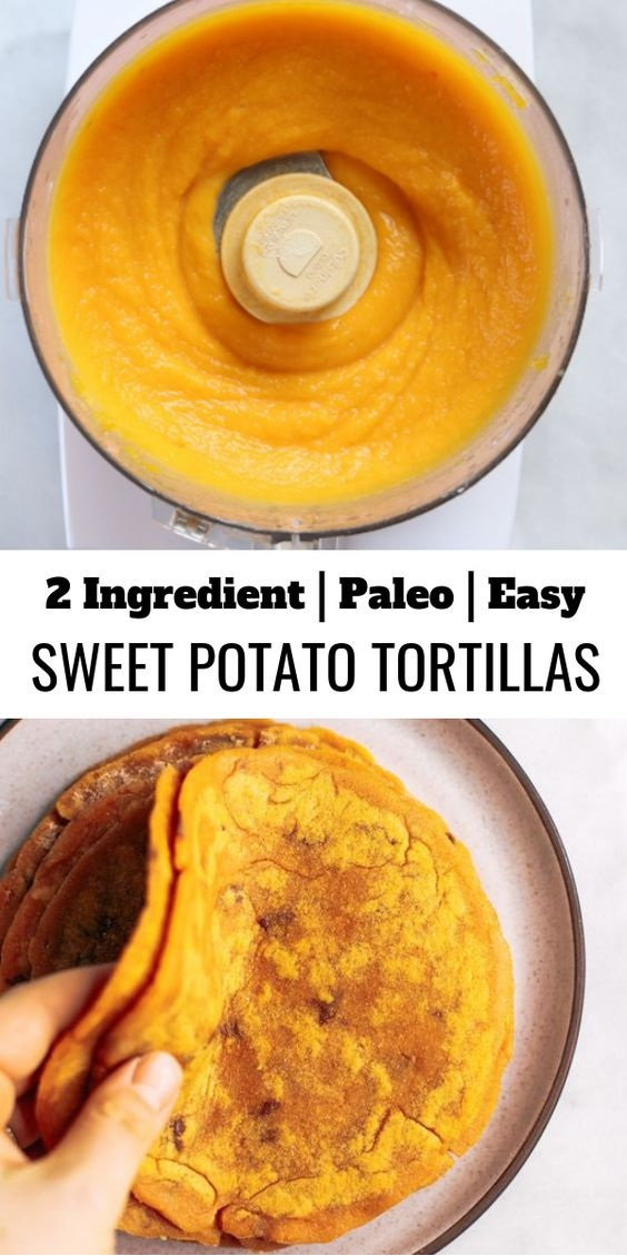 Two Ingredient Sweet Potato Tortillas