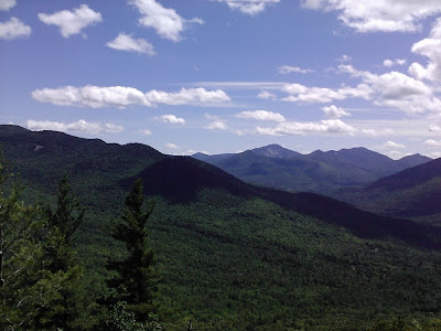View of the Dix range, Nippletop and Colvin (L to R) from Baxter Mountain.  The Saratoga Skier and Hiker, first-hand accounts of adventures in the Adirondacks and beyond, and Gore Mountain ski blog.