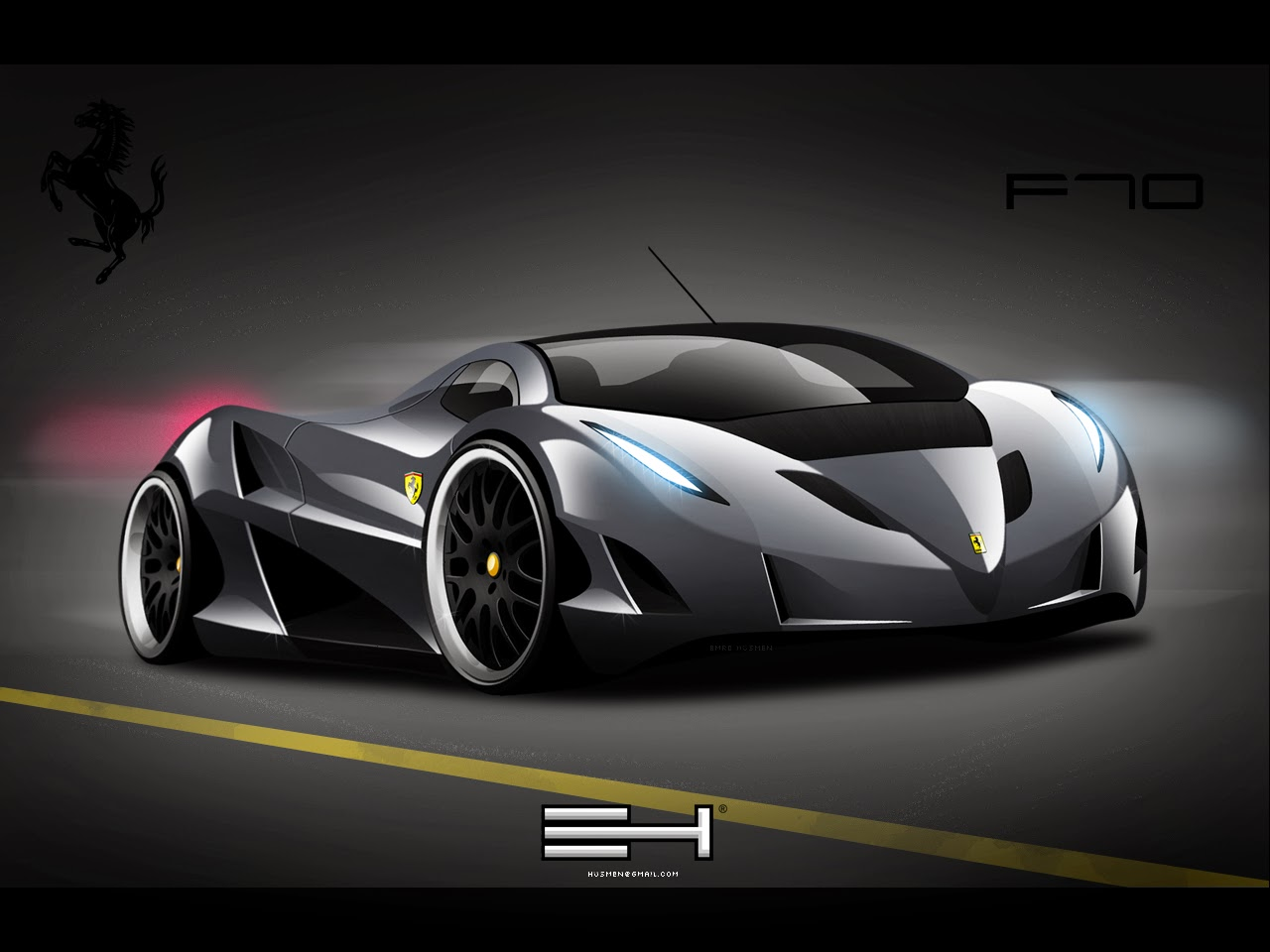 Imagenes De Coches Hd: Fondo De Pantalla Coche Ferrari F70