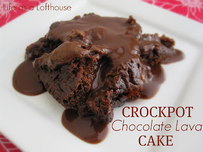 Crock Pot Chocolate Lava Cake is a warm and gooey chocolate cake baked right in the crock pot. Life-in-the-Lofthouse.com