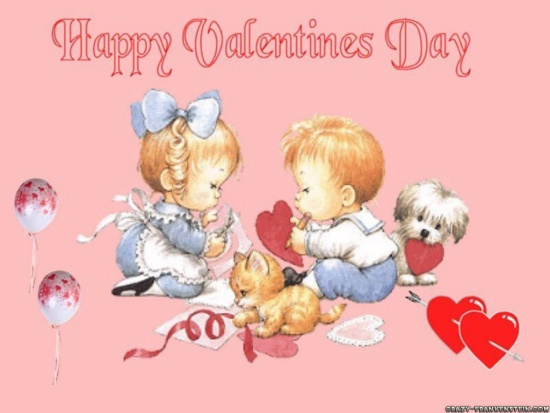 happy valentine valentines cute english desktop wallpapers children computer days cards printable sweet pc funny card