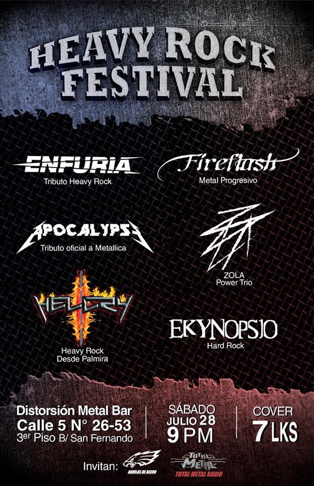 Resultado de imagen para heavy rock festival cali 2018