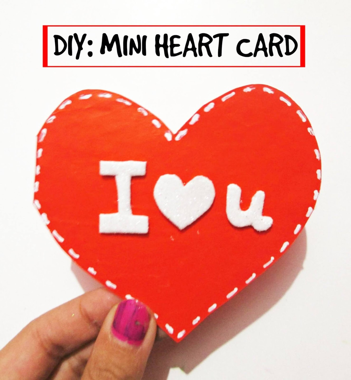 diary of seresha diy mini heart card