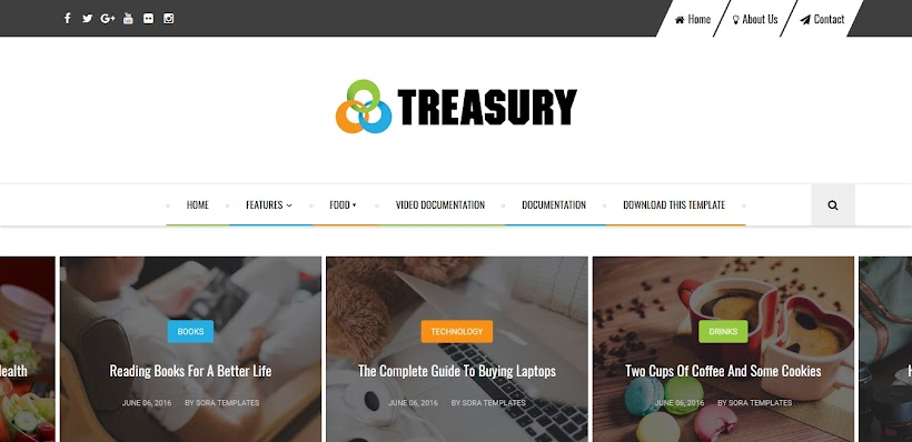Treasury Free Blogger Template