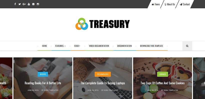 Treasury Free Blogger Template