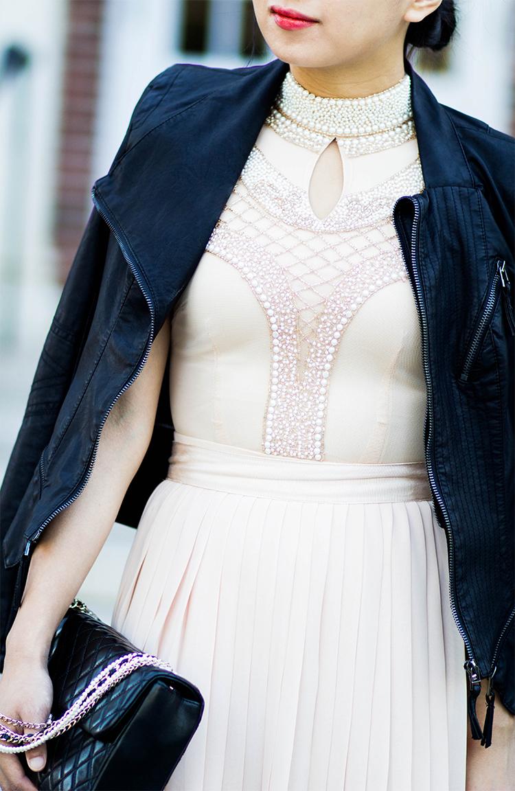 Pearl-Embellished Bodysuit
