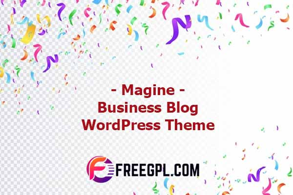 Magine – Business Blog WordPress Theme Nulled Download Free