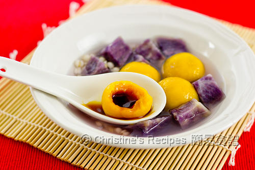 南瓜湯圓配紫薯 Pumpkin Glutinous Dumplings02