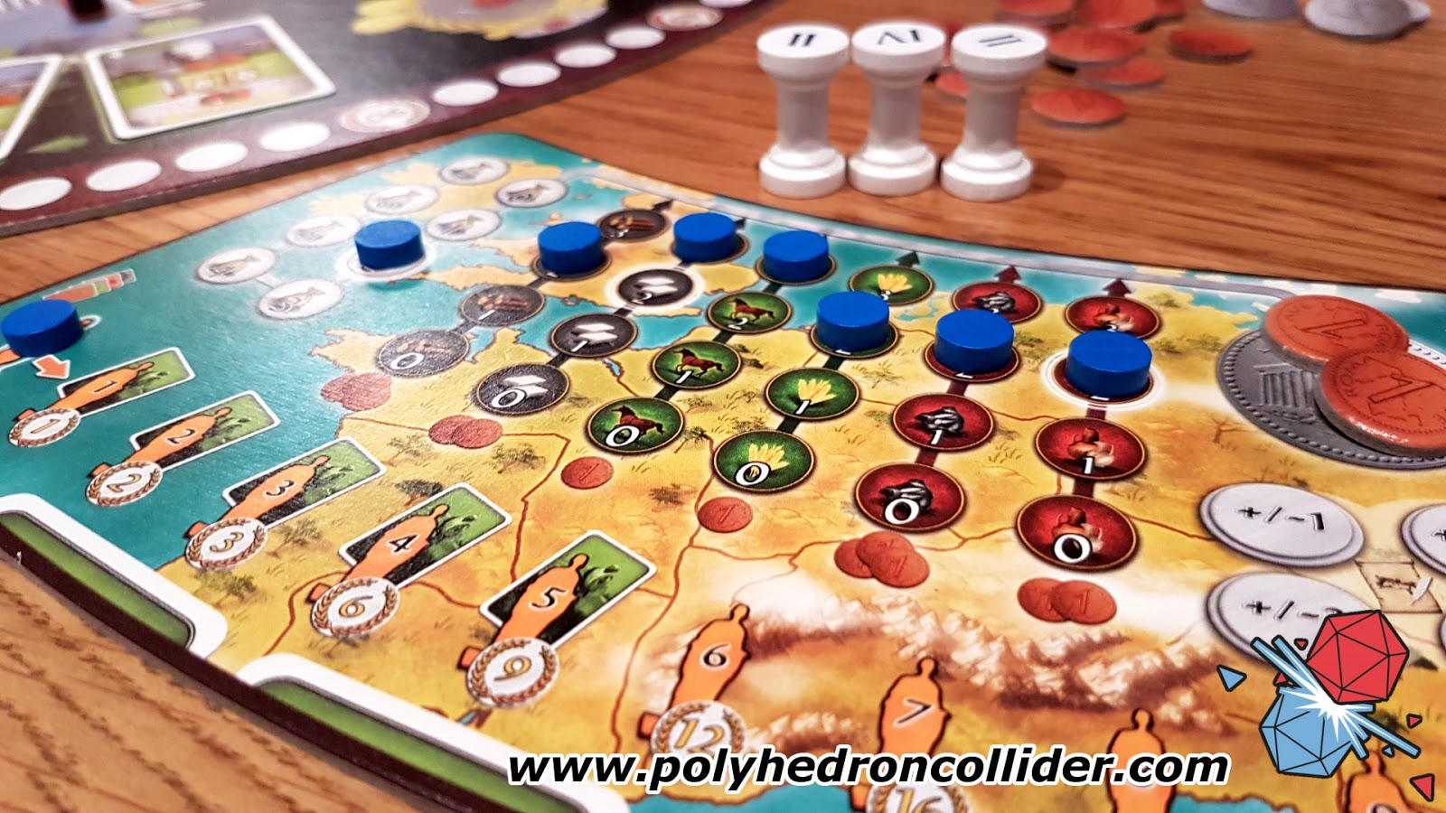ave roma worker placement review player board