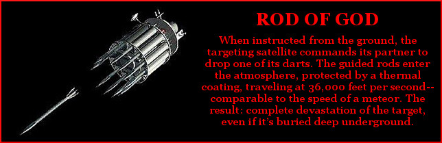 Air Force 'rods from god' kinetic weapon hit with nuclear ... |Rod From God Weapon