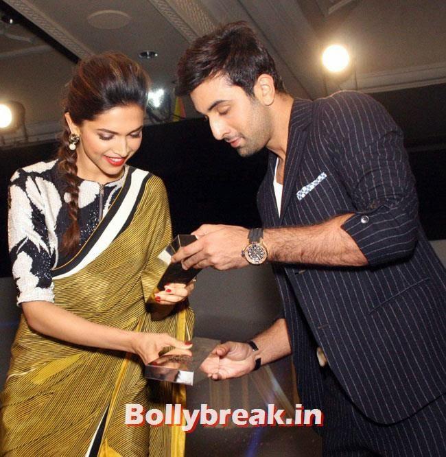 Deepika Padukone and Ranbir Kapoor, DP, Ranbir, Aamir at NDTV Indian of The Year Awards 2014