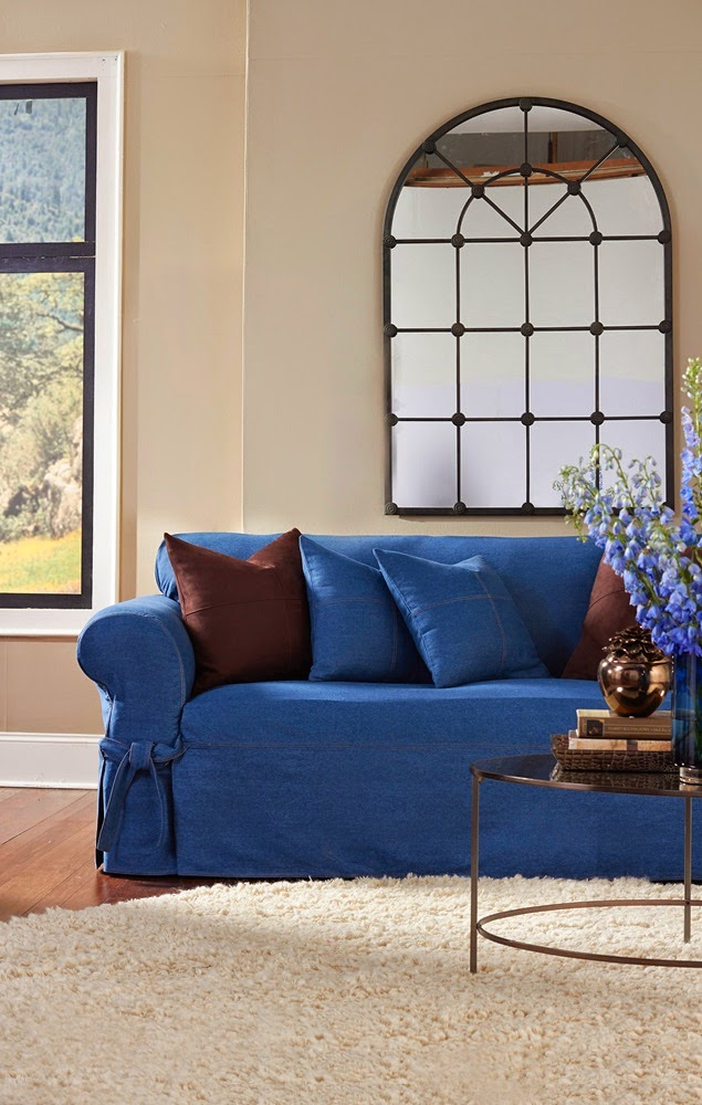 Sure Fit Stretch Pique 3 Piece T Cushion Sofa Slipcover Eero Saarinen Slipcovers: Receive Your Free Summer 2014 ...