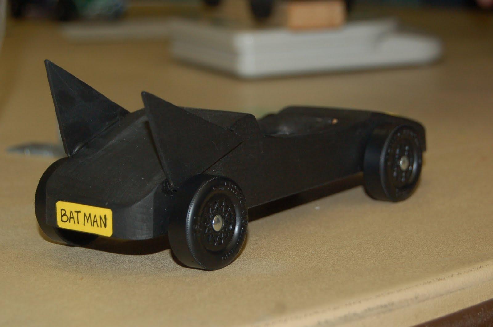 Derby Pinewood Printable Templates Batman Car