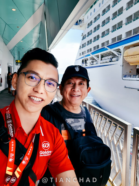 Selfie with Alamak 辉哥 程旭辉 during one of the GD Cruise Tour