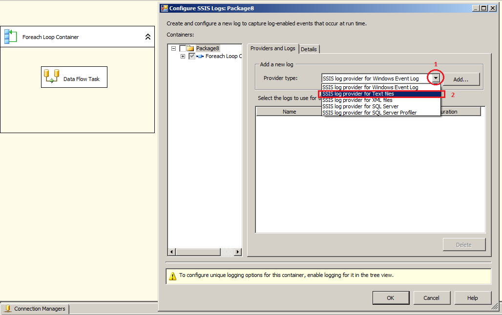 Welcome To TechBrothersIT: SSIS - Create Log File for SSIS