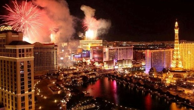 Happy New Year 2018 Celebration in Las Vegas united States