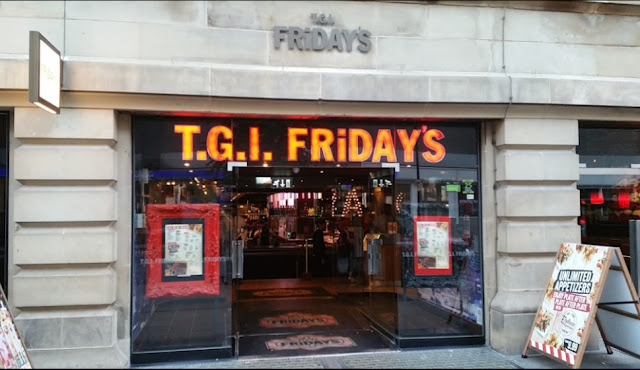 TGI Friday's Manchester Greater Manchester UK Gluten Free Options