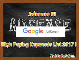 Adsense high paying keywords