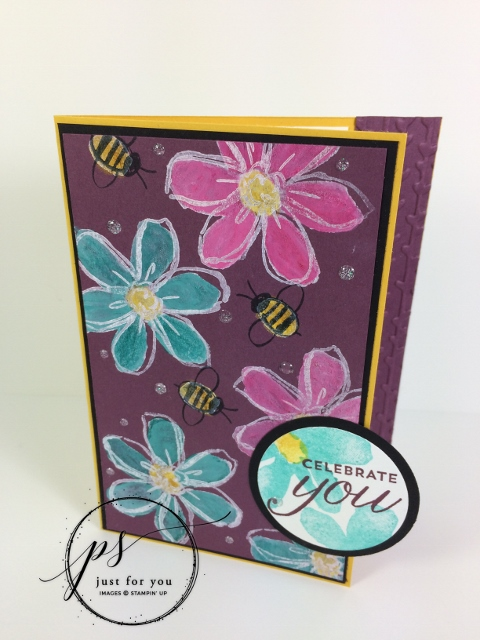 Black Magic Stamping Technique, Garden in Bloom, Stampin'Up!, Frenchiestamps,