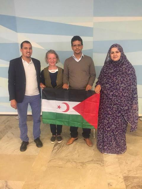 وفد من اتحاد الطلبة الصحراويين في زيارة عمل الى فلندا