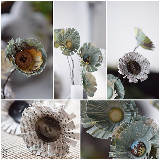 DIY Blumen mit Papier