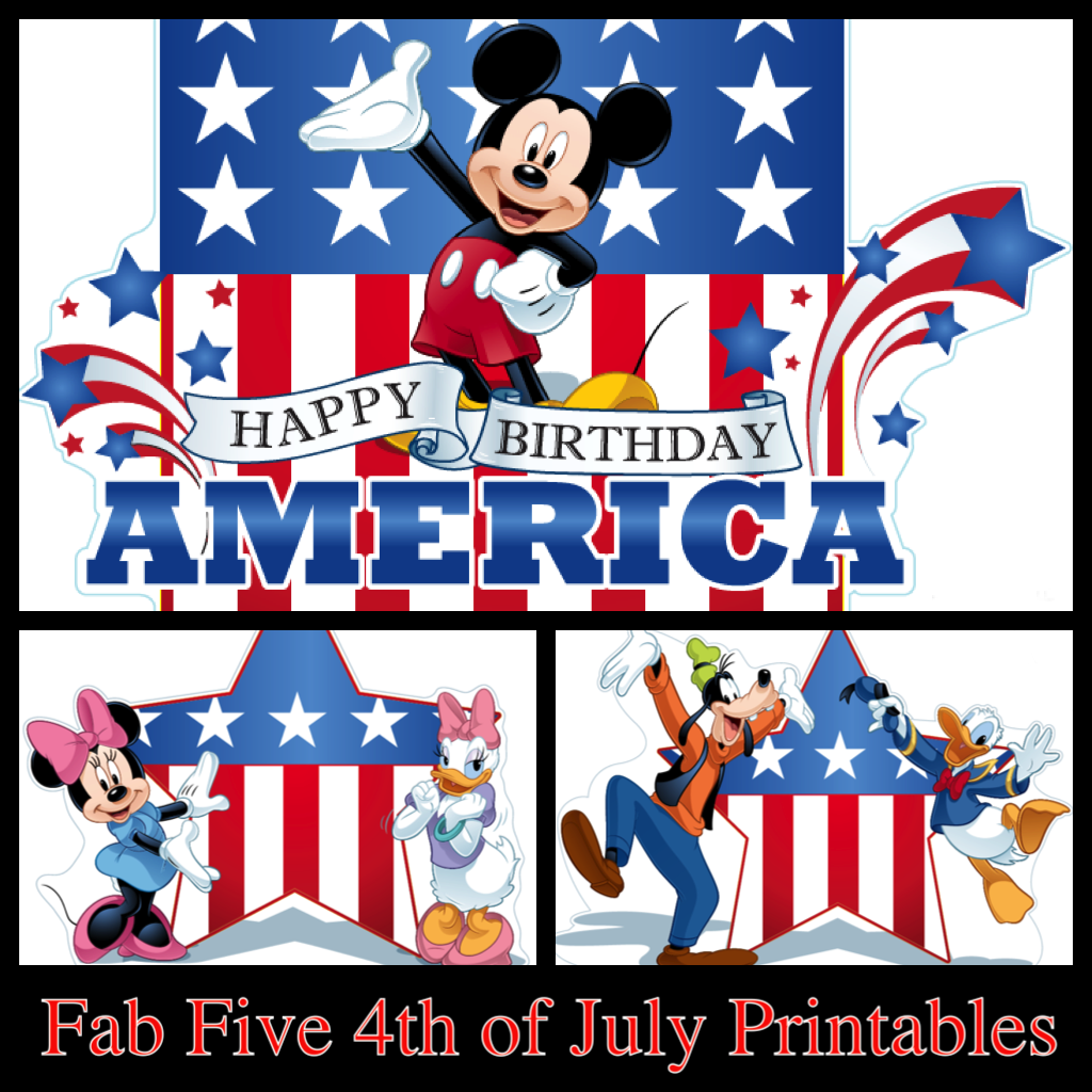 My Disney Life: Fab Five 4th of July Printables- Part 1