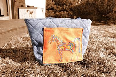 mandala koń pikówka torebka hand made