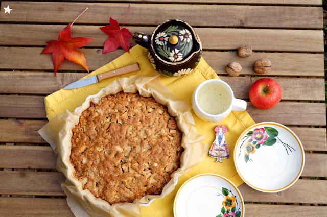 gâteau pommes noix sans lactose dessert goûter