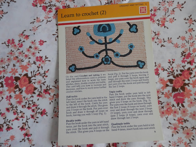 Retro seventies crochet pattern card.  secondhandsusie.blogpsot.co.uk