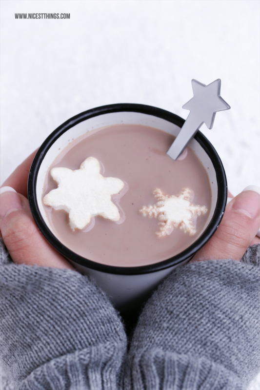 Marshmallows Rezept Schneeflocken Marshmallows selber machen #marshmallow #marshmallows #schneeflocken #hotchocolate #winterrezepte