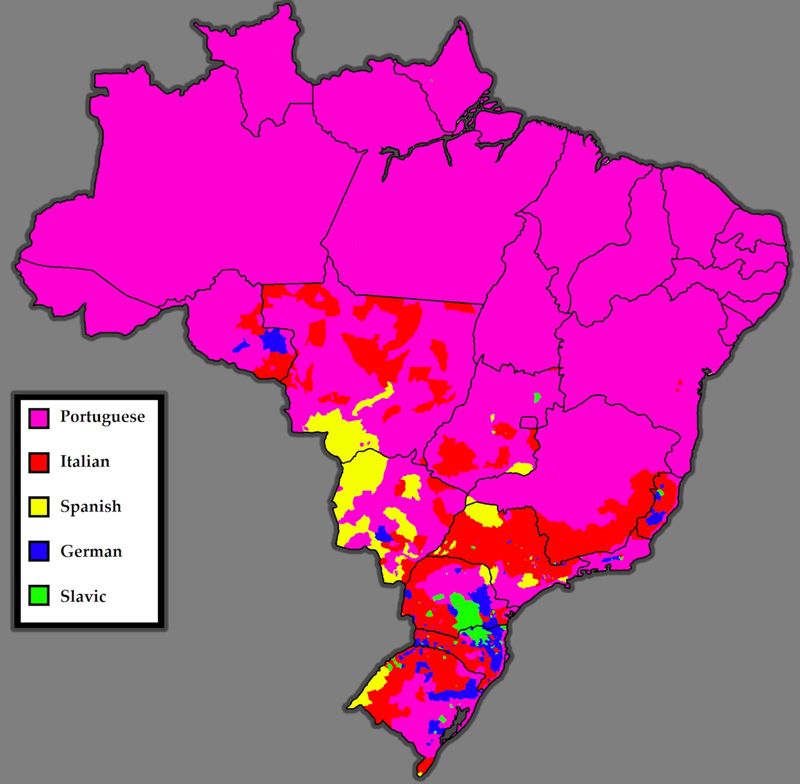 Mapa da Colonização do Brasil