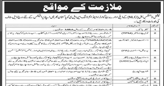 NLC Jobs 2019 for HQ O&M Tolling NLC Vacancies Advertisement Latest
