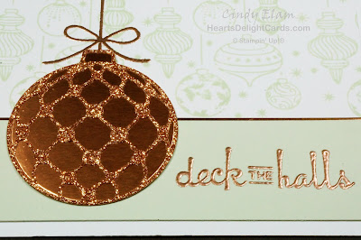 Heart's Delight Cards, Beautiful Baubles, Christmas Card, Christmas Ornaments, Stampin' Up! Holiday 2018
