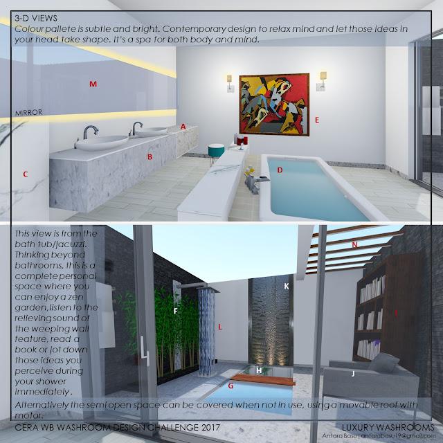Luxury Washroom Design Challenge Entry