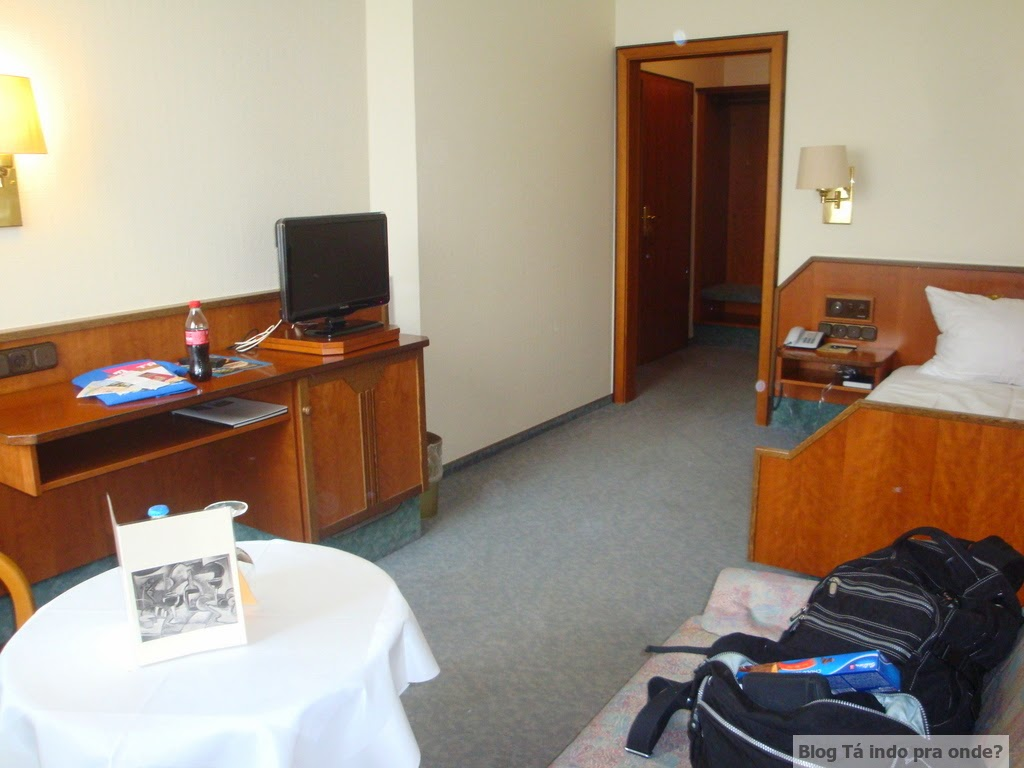 quarto single do Altstadt Hotel Trier