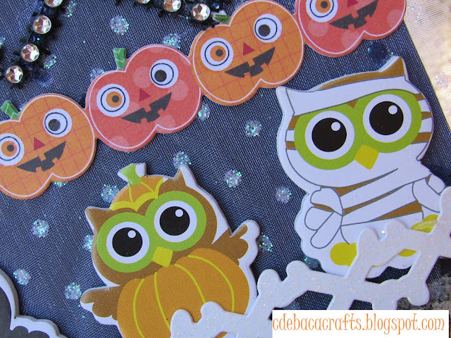 Handmade halloween card by CdeBaca Crafts.