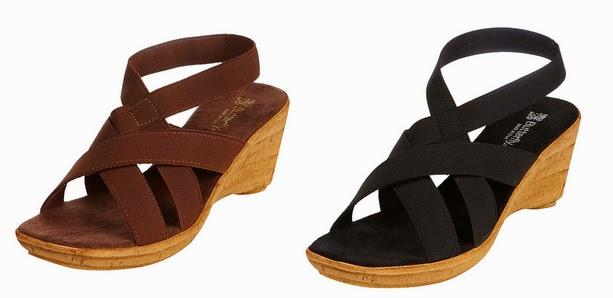 Sandalias en marrón y negro